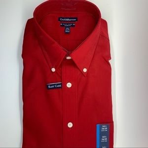 Croft & Barrow Red Easy Care Classic Dress Shirt